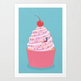Cupcake slide Art Print