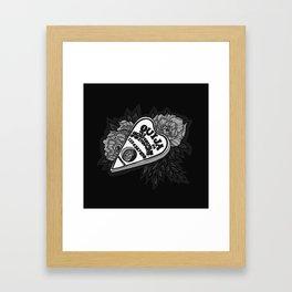 Ouija Planchette - Monochrome Framed Art Print