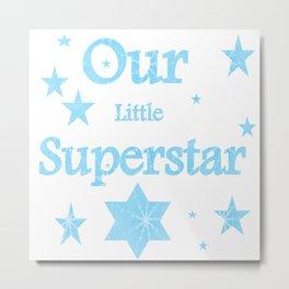 Superstar Boy Blue Metal Print