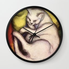 """Franz Marc """"Kater auf gelbem Kissen"""" Wall Clock"""