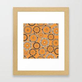 bike wheels amber Framed Art Print