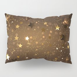 Brown Background with Stars Pillow Sham