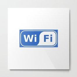WiFi Sign Metal Print