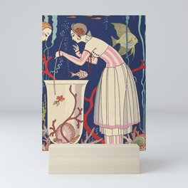 George Barbier The Stunning Little Fish Mini Art Print