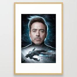 Iron Man Tony Stark Framed Art Print