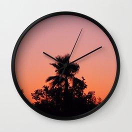 Palm Trees on Purple Wall Clock