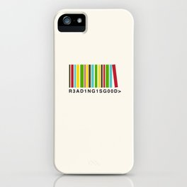 Reading is good iPhone Case