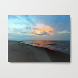 PEI Sandy Beach Sunset Metal Print