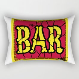 BAR AND SPIDERS VINTAGE SIGN Rectangular Pillow