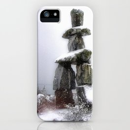 Inukshuk, Vancouver iPhone Case