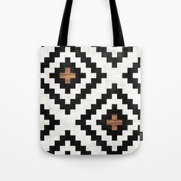 Urban Tribal Pattern No.16 - Aztec - Concrete and Wood Tote Bag