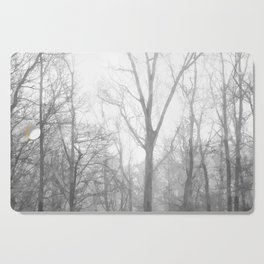 Black and White Forest Illustration Cutting Board