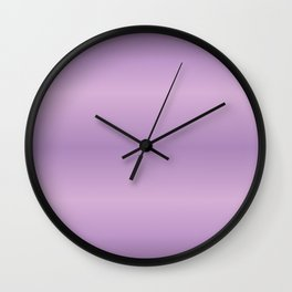 Purpe Gradint Strips Wall Clock