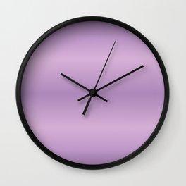 Purpe Gradint Strips Wall Clock