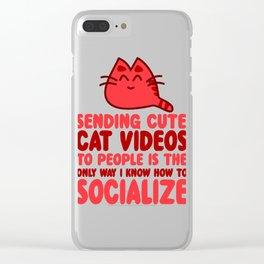 Cute Cat Videos Clear iPhone Case