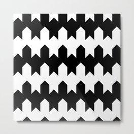 BW Tessellation 4 4 Metal Print
