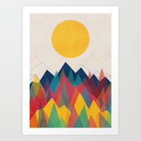 contemporary Art Prints featuring Uphill Battle by Picomodi