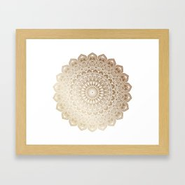 Gold Mandala 20 Framed Art Print