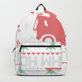Oh What Fun It Is To Ride Golf Cart Christmas Golfing Golfer Backpack