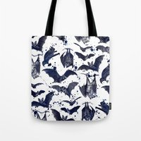 bats Tote Bags featuring BATS by DIVIDUS