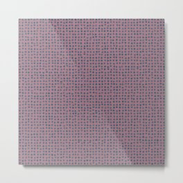 Blue dots on mauve - soft pastel Metal Print