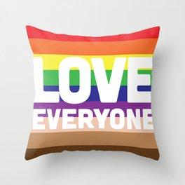 Love Everyone Flag Throw Pillow