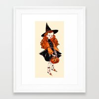 hocus pocus Framed Art Prints featuring Hocus Pocus by Leslie Hung