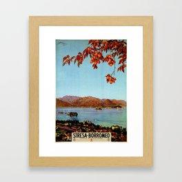 Stresa Borromeo Lake Maggiore 1927 Framed Art Print