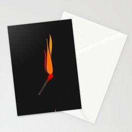 Matchsticks Afire Stationery Cards