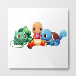 PokemonCharmanderSquirtle Metal Print