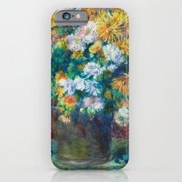 Pierre Auguste Renoir by Chrysanthemums iPhone Case