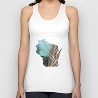wisconsin Tank Tops featuring Wisconsin ii by Isabel Moreno-Garcia