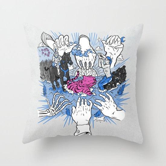 Foul Fingers Throw Pillow