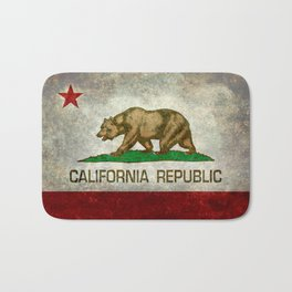 State flag of California in Grunge Bath Mat