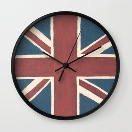 Rusted Union Jack Wall Clock