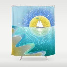 Sunny Sailing Shower Curtain