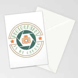 Photography Is My Cardio Camera Photographer Quote Photo Shoot Stationery Cards