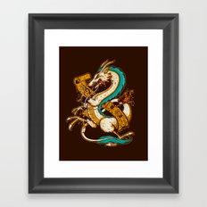 SPIRITED CREST Framed Art Print