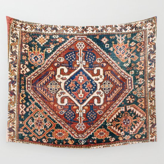 Qashqai Khorjin  Antique Fars Persian Bag Face Print by vickybragomitchell