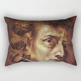 Eugene Delacroix- Portrait of Chopin Rectangular Pillow