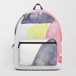 170404 Steady Pacing 2 |Modern Watercolor Art | Abstract Watercolors Backpack