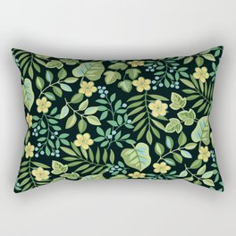 Tropical Leaves and Berries Rectangular Pillow
