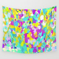 confetti Wall Tapestries featuring Confetti  by Maggie Dylan