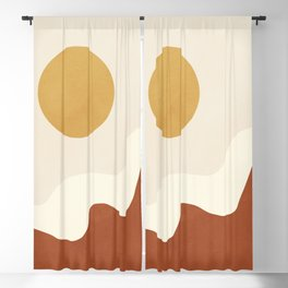 abstract minimal 40 Blackout Curtain