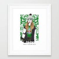kenzo Framed Art Prints featuring Kenzo Girl by Natalia Madej