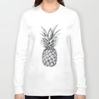 pineapple Long Sleeve T-shirts featuring Pineapple by Sibling & Co.