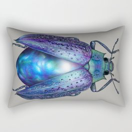 Black Opal Beetle Rectangular Pillow