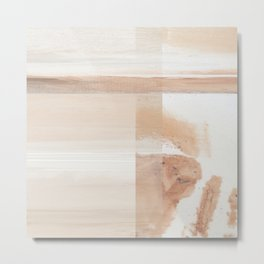 Fragments 13 - peach pink marble stripe Metal Print