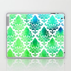 Damask in Bright Seaweed Laptop & iPad Skin