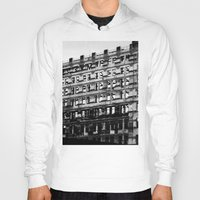 building Hoodies featuring Building by Tristan Tait